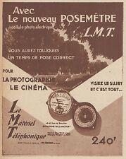 Z8439 Posemétre L.M.T. - Pubblicità d'epoca - 1935 Old advertising