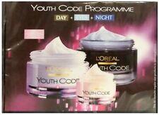 L'Oreal 50ml DAY 15ml EYES 50ml NIGHT Youth Code ANTI-WRINKLE Face Moisturiser