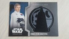 Topps Star Wars Rogue One Director Krennic Commemorative Patch Card
