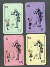 Playing Swap Cards 4  VINT A.F.O.B. DRINK  ADVT  LITTLE GIRL & GENT CUTE SET 183