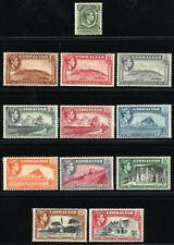 GIBRALTAR 1938/49 SG 121-29 SC 107-16 VF OG MLH * RARE SHORT SET 12 STAMP