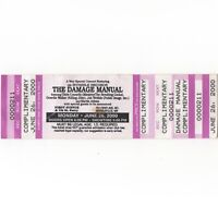 THE DAMAGE MANUAL Concert Ticket Stub MINNEAPOLIS MN 6/26/00 FIRST AVENUE Rare