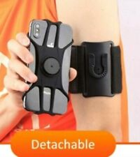 "Wristband Armband Holder For Phone 4-6.5"" Iphone Samsung Sport Gym Running Black"