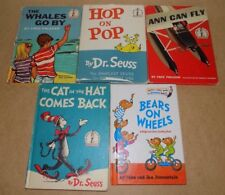 Lot Of Vintage Dr. Seuss Beginner Books Whales Go By, Hop On Pop, Cat In The Hat
