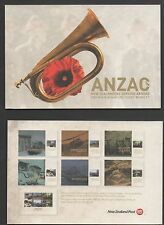 New Zealand 2013 Anzac NZ Serving Abroad Miniature Sheet Booklet Stamps f used