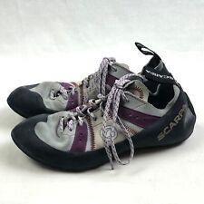 Scarpa Rock Climbing Shoes Mens Us 7 Womens Us 8 Eur 39.5 Gray Purple Bouldering