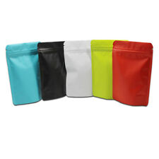Matte Pure Aluminum Foil Stand Up Bags Pouches for Zip Mylar Food Lock Packaging