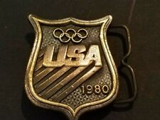Belt Buckle Collectors Items VINTAGE USA US OLYMPICS 1980