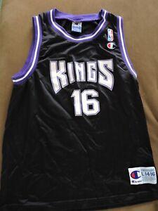 Vintage Champion Sacramento Kings Purple Boys Youth Stojakovic Basketball Jersey