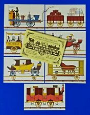 More details for rare set no.1 of 7 postcards, liverpool & manchester railway train by dalkeith