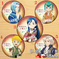 """Anime Ascendance of a Bookworm badges Pins Schoolbag 5.8CM(2.3"""") cosplay"""