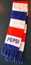 "Rare Vintage PEPSI Red White Blue Promo PEPSIMOJI SCARF-Cola Ski-54 x 8.5"""