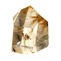 Rutilated Quartz Crystal Point with Golden Angel Hair Polished 20mm 34 Carat