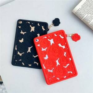 Soft Silicone 3D Flower Case Cover For iPad 5/6/7/8th 10.2 Mini Air 10.5 10.9 11