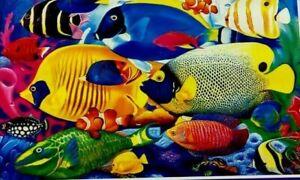 "Jigsaw Puzzle FISH SCHOOL 350 Pieces 18.25"" x 11"" Artbox - CraZArt"