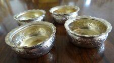 Set of Four (4) Gorham #2235 Sterling Silver Open Salt Cellars Gilded Interiors