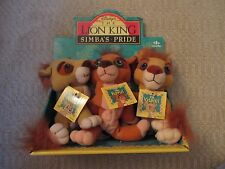 "1998 RARE Disney The Lion King Simba's Pride Nuka Kovu Vitani 6"" Plush In Box"