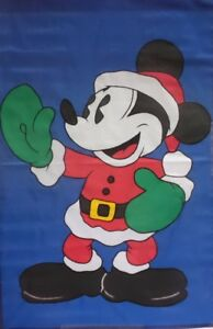 Mickey Santa Green Mittens Standard House Flag by NCE #45551