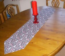 Christmas Table Runner REINDEER SILVER GREY 135cm x 26cm Decoration pointed
