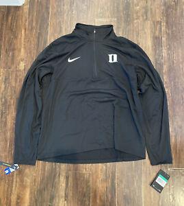 Nike Men's Duke Blue Devils Pullover Quarter Zip Black White #AR7131-010 Size XL
