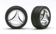 Pegasus 1210 x 1/24-1/25 3-Spoked Chrome Rims w/Tires (4)