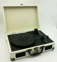 Briefcase Record Player Turntable Portable 3 Speed Vinyl Suitcase USB  Retro NEW