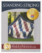 """STANDING STRONG Quilt Pattern by Shabby Fabrics ~ Quilts of Valor 59.5"""" x 73.5"""""""