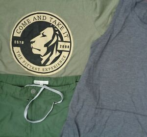 A3 Lot RBX Reebok Womens M Cambro Apparel Fitness Gym Sports T Shirt Shorts Tank