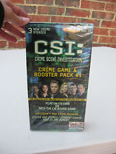 Csi Crime Scene Investigation 3 New Crime Stories Booster Pack #1 Factory Sealed
