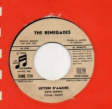 RENEGADES in ITALIANO disco 45 MADE in ITALY Lettere d'amore 1968 PROMO Juke Box