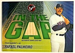 2002 Topps In The Gap Rafael Palmeiro Authentic Game Used Bat  /425 RANGERS