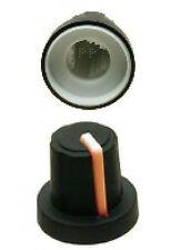 3 * de 11 mm naranja Puntero cuerpo negro de perilla de control potenciómetro Suave Estriado