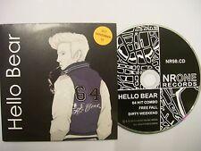 HELLO BEAR 64 Hit Combo –  2012 UK/EU CD Card Sleeve – Indie Rock – BARGAIN!