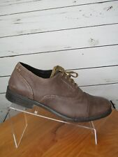 Men's Hush Puppies Brown Leather Dress / Casual Shoes Sz:10.5