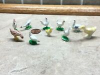 10 Vintage Miniature TINY Wee Ducks And Chickens
