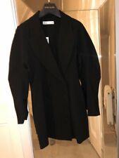 Zara Negro Vestido Con Mangas De Ancho Cuello Chal Tamaño Pequeño (BNWT) 8670/409