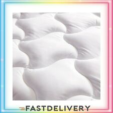 Cal King Size Mattress Pad Cover Memory Foam Pillow Top Cooling Soft Topper Whit