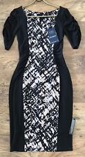 M&S 'DROP A DRESS SIZE' Secret Support Leopard Print Pencil Dress UK 8 (RRP £59)