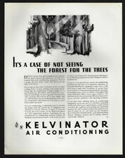 1934 Vintage Print Ad 30's KELVINATOR air conditioning forest image