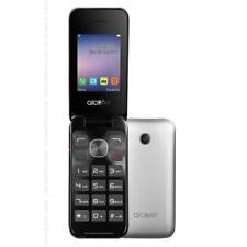 "Alcatel 2051X 2.4"" Display Flip Keypad Mobile Phone 2mp Camera Silver Unlocked"