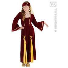 Bambini Ragazza Medievale Principessa Costume Juliet 8-10 anni