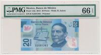 MEXICO banknote 20 Pesos 2012 PMG MS 66 EPQ Gem Uncirculated grade