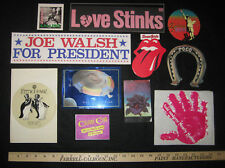 VINTAGE ROCK AND ROLL STICKER COLLECTION from 70's and 80's