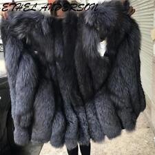 Fashion Womens Farm Fox Fur Coats Vest  Jacket Fuchs Promotion Genuine S-6XL