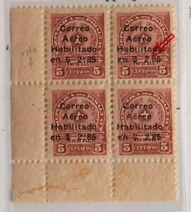 PARAGUAY 1929 Very Rare ERROR-Block XF MNH/** , Aero, Airmails, Flight, Zeppelin
