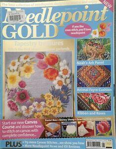 Needlepoint GOLD magazine 2003 Issue 5 noahs ark flowers animal fayre sheep