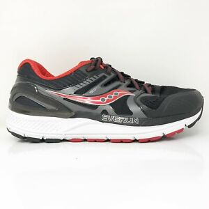 Saucony Mens Redeemer ISO 2 S20382-1 Black Red Running Shoes Lace Up Size 8.5 W