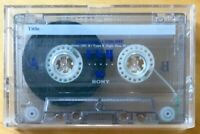 SONY FXII 90 USED CASSETTE TAPE TYPE II HIGH BIAS CHROME POSITION