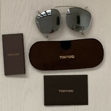 Tom Ford FT 5315CL/S Clip On 016 Mens Sunglasses New Silver Frame