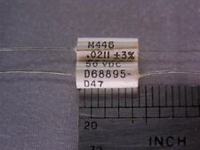 25 Vintage TRW M446 .0211uF 50V 3% Film Capacitors